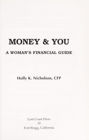Cover of: Money & you | Holly K. Nicholson