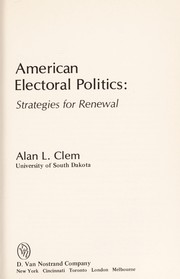 Cover of: American Electoral Politics