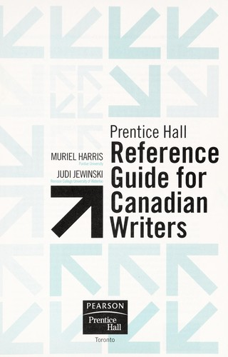 Prentice Hall reference guide for Canadian writers by Muriel Harris