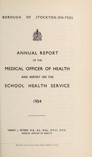 Cover of: [Report 1954] | Stockton-on-Tees (Durham, England). Borough Council