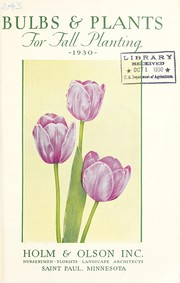Cover of: Bulbs and plants for fall planting | Holm & Olson