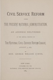 Cover of: Civil-service reform under the present national administration