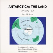 Cover of: Antarctica: the land