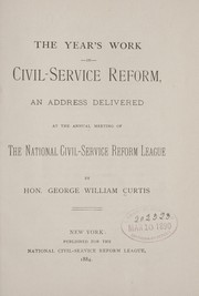 Cover of: The year's work in civil-service reform