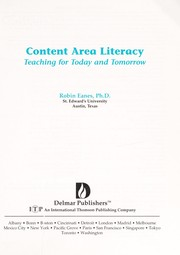 Cover of: Content area literacy | Robin Eanes