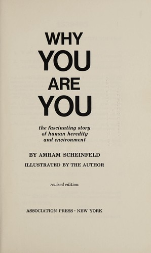 Why you are you by Amram Scheinfeld