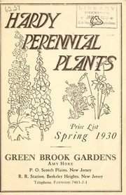Cover of: Hardy perennial plants | Green Brook Gardens
