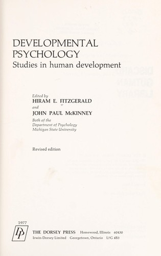 Developmental psychology by Hiram E. Fitzgerald