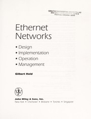 Cover of: Ethernet networks | Gilbert Held