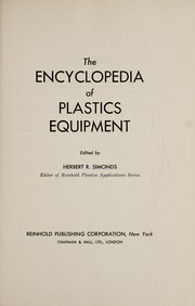 Cover of: The encyclopedia of plastics equipment