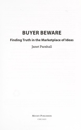 Buyer beware by Janet Parshall