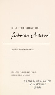 Cover of: Selected poems of Gabriela Mistral