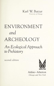 Cover of: Environment and Archaeology