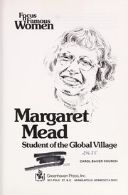 Cover of: Margaret Mead | Carol Bauer Church