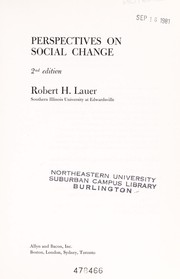 Cover of: Perspectives on social change