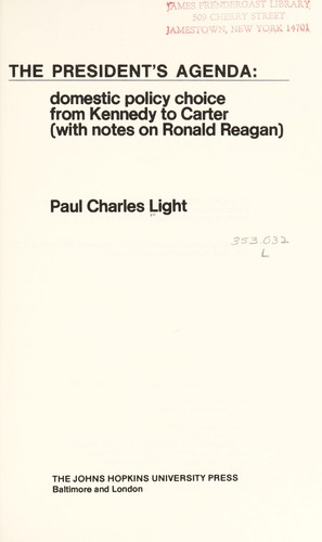 The president's agenda by Paul Charles Light
