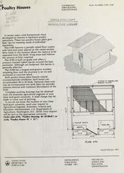 Cover of: Poultry houses | United States. Science and Education Administration