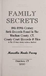 Cover of: Family secrets | Marcella Houle Pasay