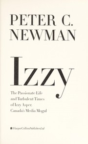 Cover of: Izzy | Peter C. Newman