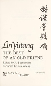 Cover of: Lin Yutang: the best of an old friend
