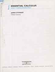 Cover of: Essential calculus | James Stewart