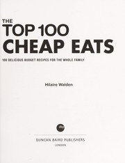 Cover of: The top 100 cheap eats