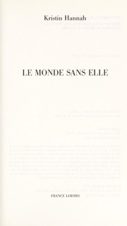 Cover of: Le monde sans elle