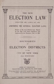 Cover of: The new election law
