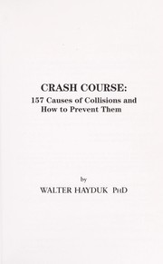Cover of: Crash course | Walter Hayduk