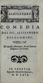 Cover of: Alessandro