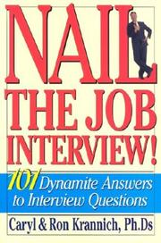 Cover of: Nail the job interview!