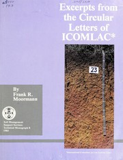 Cover of: Excerpts from the circular letters of the International Committee on Low Activity Clays (ICOMLAC)