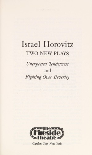 Two new plays by Israel Horovitz