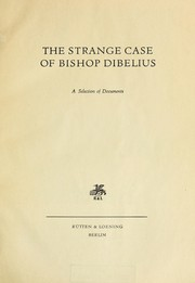 Cover of: The strange case of bishop Dibelius