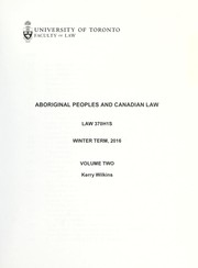 Cover of: Aboriginal peoples and Canadian law | Kerry Wilkins