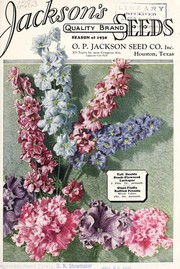 Cover of: Jacksons quality brand seeds | O.P. Jackson Seed Co., Inc