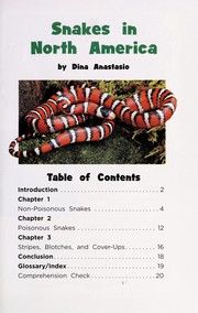 Cover of: Snakes in North America