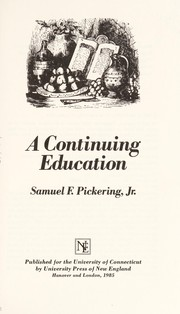 Cover of: A continuing education