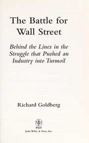 Cover of: The battle for Wall Street