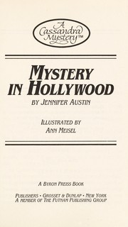Cover of: Mystery in Hollywood | Jennifer Austin