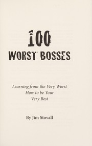 Cover of: 100 worst bosses