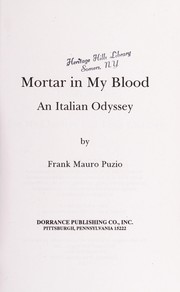 Cover of: Mortar in my blood