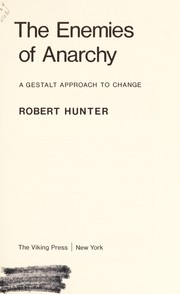 Cover of: The enemies of anarchy