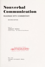 Nonverbal communication by Shirley Weitz