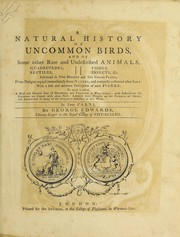 Cover of: A natural history of birds