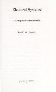 Cover of: Electoral systems | Farrell, David M.