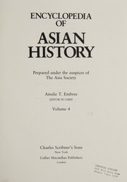 Cover of: Encyclopedia of Asian history |