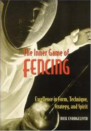 Cover of: The inner game of fencing