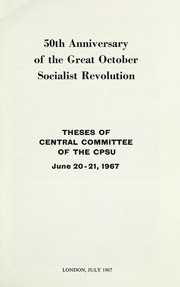 Cover of: Fiftieth anniversary of the great October Socialist revolution