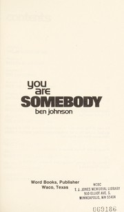 Cover of: You are somebody
